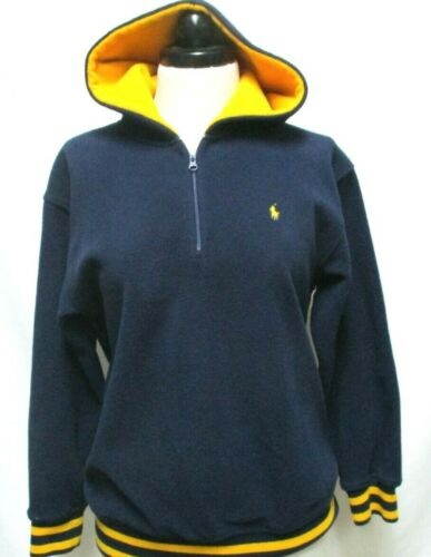 Polo Ralph Lauren Boys fleece pullover jacket 1/4 zip Hooded Size Sz Large 16 18
