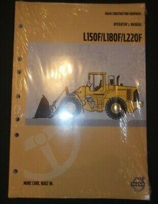 Volvo L150f L180f L220f Wheel Loader Operation Maintenance Manual Book
