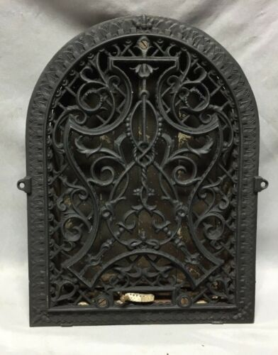 Antique Cast Iron Arch Decorative Heat Grate Wall Register 9X13 Vintage 130-19C