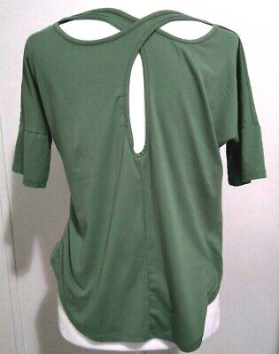Ethereal Yoga Top Activewear Stingy Sage Green Crossback Soft Workout
