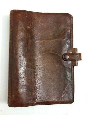 Filofax System Binder Personal Planer Leather Vintage Brown The British England