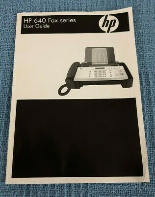 Genuine Hp 640 Fax Series User Guide Owners Manual B1