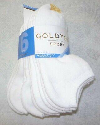 GOLD TOE® 6-Pack White Cushion Lined Socks