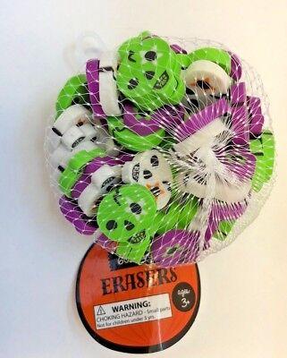 60 Mini Halloween Sugar Skulls Erasers Teacher Supply Sorting Math Counter (Math Halloween)