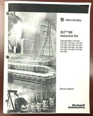 Allen-bradley Slc 500 Instruction Set 1747 Reference Manual 2003