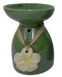 Designer ceramic oil burners with Frangipani pendant