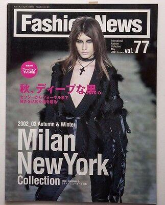 Fashion News Japanese Fashion Magazine 2002-03 A/W Milan New York Collection
