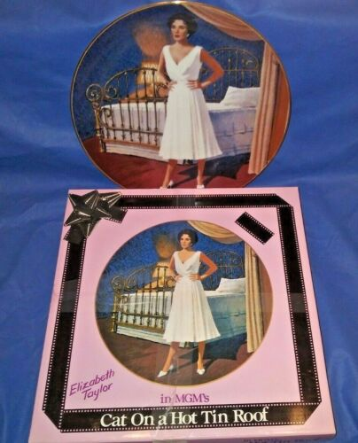 ELIZABETH TAYLOR PLATE Cat on a Hot Tin Roof Limited Edition in Box with COAs.