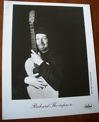 Richard Thompson 8x10 B&W Press Photo Capitol Records 1993