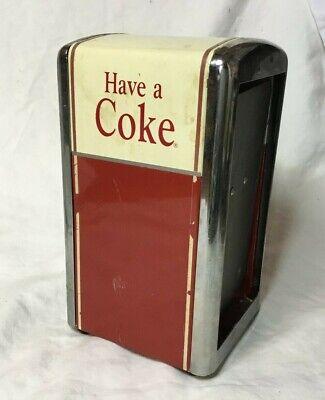 *1992 Coca Cola HAVE A COKE Napkin Holder Dispenser metal