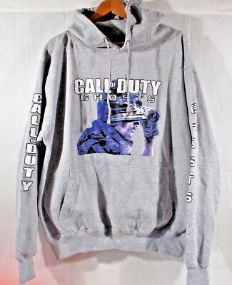 ESY Call of Duty GHOSTS HOODIE WITH KANGROO POCKET w/ BRUNNER ON BACK  XL