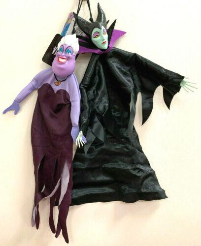 "(2) Disney Villains Posable Hanging Decor URSULA & MALEFICENT 14"" Halloween"