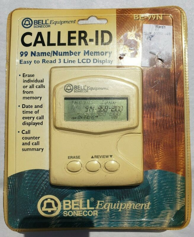 Bell Equipment Sonecor Caller ID 99 Name Number Date Time Memory *Read*.    P9
