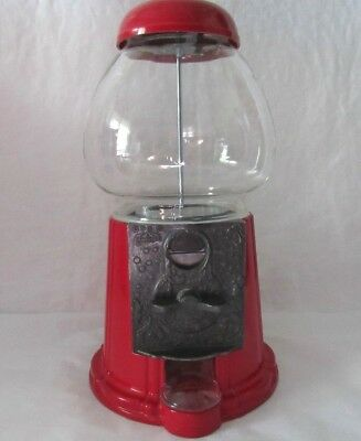Vintage Carousel Gum Ball Machine Metal w/ Glass Globe 1985 No 07 Junior