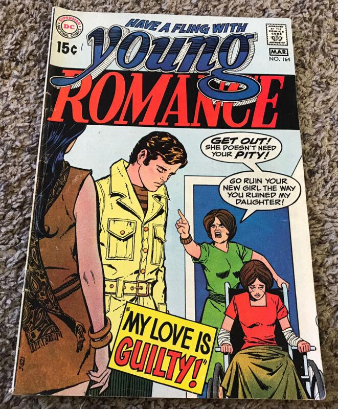 1970 DC Comics YOUNG ROMANCE #164 Romance Comic Book