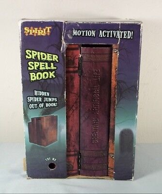 Spirit JUMPING SPIDER Witch/Vampire/Spell BOOK - Motion Activated HALLOWEEN PROP