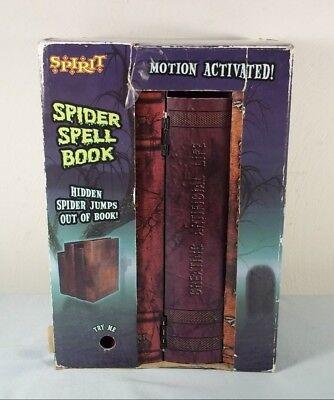Spirit JUMPING SPIDER Witch/Vampire/Spell BOOK - Motion Activated HALLOWEEN PROP - Halloween Spelling Activities