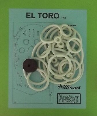 1963 Williams El Toro pinball rubber ring kit