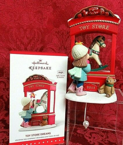 HALLMARK 2015 LIGHT~SOUND AND MOTION ORNAMENT~TOY STORE DREAMS