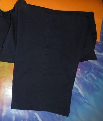 Aramark Aras Ft Navy Blue Cotton Blend Flat  Front Mens Casual Pants W 48 X L26