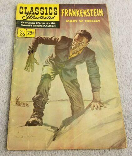 Frankenstein - Classics Illustrated - Spring 1971 - Gilberton - Comic Book - #26