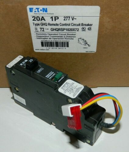 NEW EATON GHQRSP1020 Remote Control Circuit Breaker 20A 1P 277V GHQ