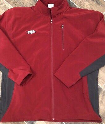 - Knights Apparel Arkansas Razorback Full Zip Jacket Mens XL Soft Shell Fleece