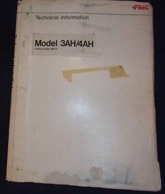 Fmc 3ah 4ah Mh Street Sweeper Service Repair Shop Manual Book Catalog 58513