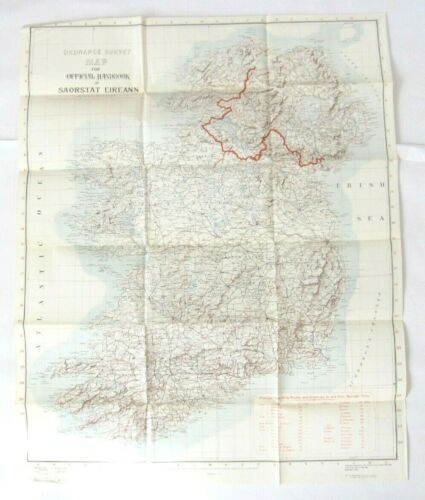 "VTG Reprint 1931 Ordance Survey Dublin Saorstat Eireann Ireland Map 24.5"" x 30"""