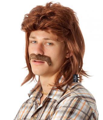 80's Mullet Wig for Men Redneck Hillbilly Joe Dirt White Trash Black Blonde... (Joe Dirt Wig)