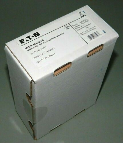 NEW Factory SEALED Eaton WSP-MV-010 Wireless Relay Switch White 120/277V 20A