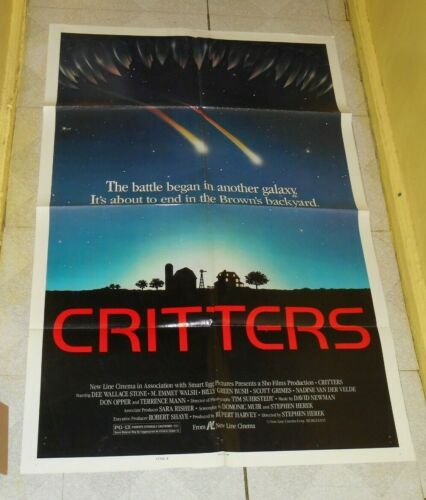 original CRITTERS one-sheet movie poster (style B)