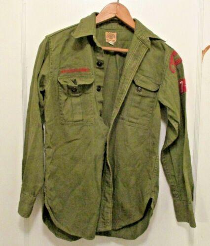 New York City Manhattan Boy's Green Vintage Boy Scouts Shirt