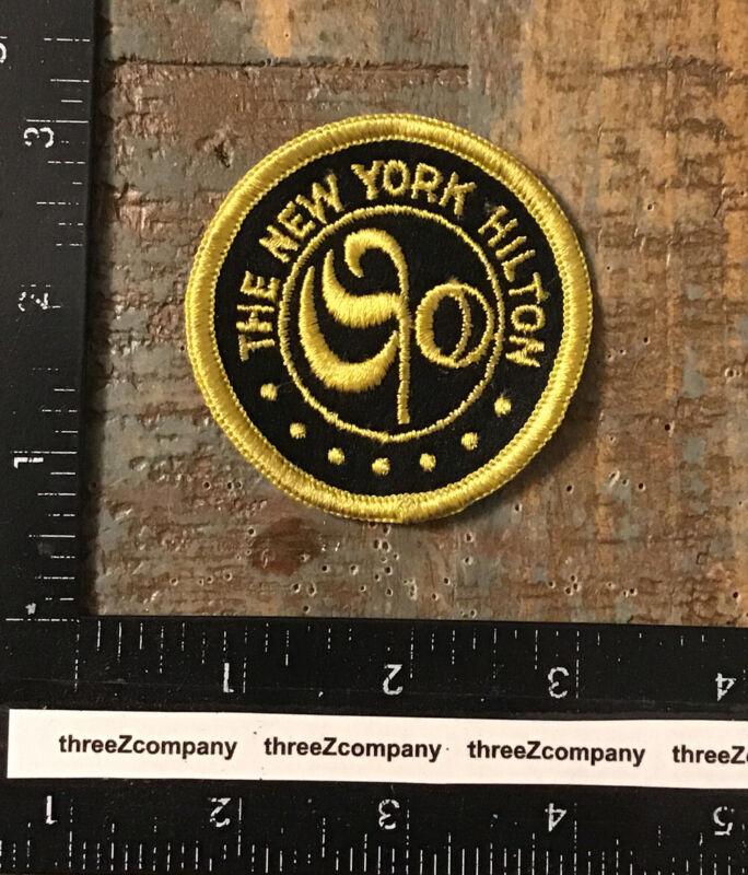 Vintage The New York Hilton Hotel Uniform Jacket Patch