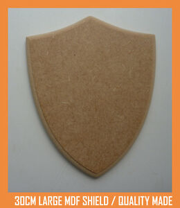 30cm MDF Large Wooden Shield Craft Shape Trophy  Plaque Quality Made/Finished