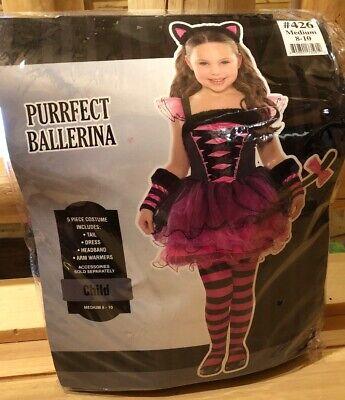 Purrfect Ballerina Girls Halloween Custome Size 8-10