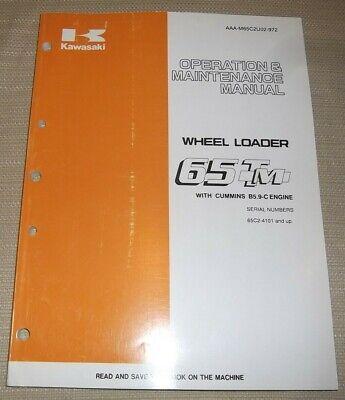 Kawasaki 65tm Wheel Loader Operation Maintenance Book Manual 65c24101-up-up