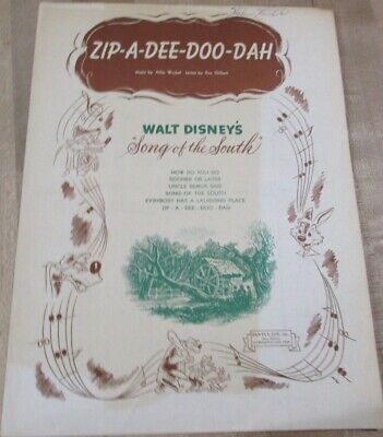 Zip A Dee Doo Dah  1946  Sheet Music  (b) (Zip A Dee Doo Dah Sheet Music)