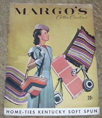 VINTAGE MARGO'S CREATIONS CROCHET PATTERN BOOK 1946