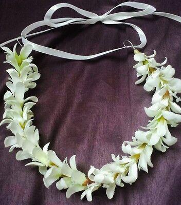 White Flower Crown White Floral Hair Wreath Beach Wedding Headband Flower Halo (Flower Halo Headband)