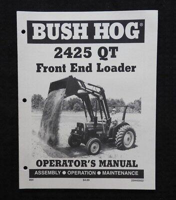 Bush Hog 2425 Qt Loader Operators Manual Massey Ferguson Tractor 240 253 261 283