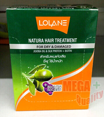 6pcsx 10 g Best Lolane Natural Hair Treatment Smooth, Straight, Nourishing