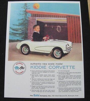 1956 / 1957 ESKA 'Kiddie Corvette' Pedal Car  REPRODUCTION OF PEDAL CAR AD ()