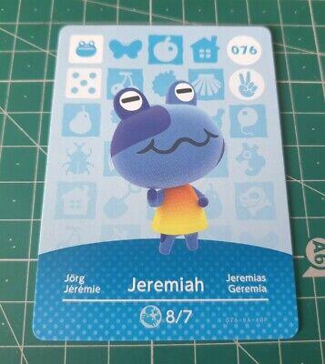 Animal Crossing Amiibo Card Jeremiah 076