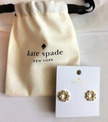 Kate Spade Clear gold circle earrings eternity style sparkle gift medium sized  - Eternal Circle Earrings