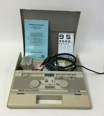 Welch Allyn Am 232 Manual Audiometer