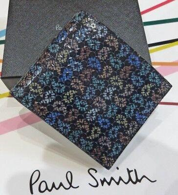 Paul Smith Wallet Bnwt Dreamer Tough Billfold Wallet Paisley Studs Rrp:£225