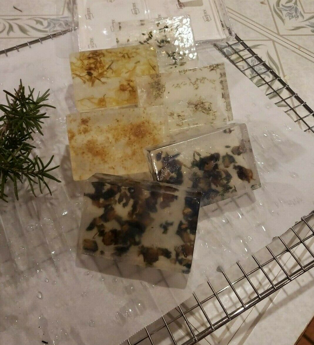 Natural Soap **ALL NATURAL** INFUSE WITH ESSENTIAL FLOWER BU