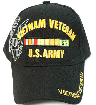 U.S.ARMY VIETNAM VETERAN Cap/Hat Black NEW *FREE SHIPPING*