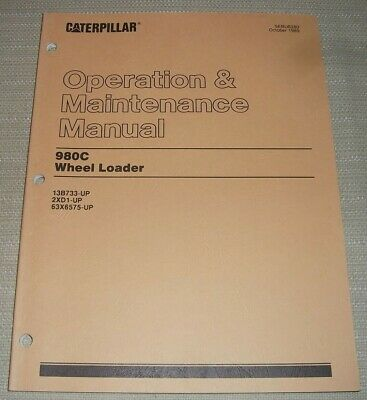 Cat Caterpillar 980c Wheel Loader Operation Maintenance Manual 13b 63x 2xd